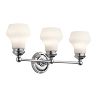 Kichler 45488CH Currituck 3 Light 23 inch Chrome Wall Mt Bath 3 Arm Wall Light