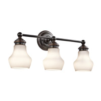 Currituck 3 Light 23 inch Oil Rubbed Bronze Wall Mt Bath 3 Arm Wall Light
