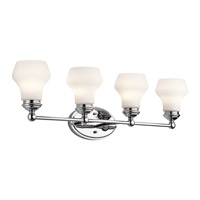 Kichler 45489CH Currituck 4 Light 32 inch Chrome Wall Mt Bath 4 Arm Wall Light