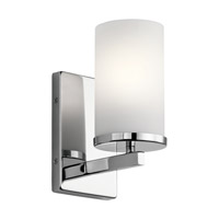 Kichler 45495CH Crosby 1 Light 5 inch Chrome Wall Bracket Wall Light
