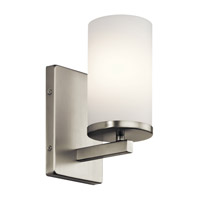 Crosby 1 Light 5 inch Brushed Nickel Wall Bracket Wall Light