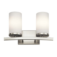 Crosby 2 Light 15 inch Brushed Nickel Vanity Light Wall Light