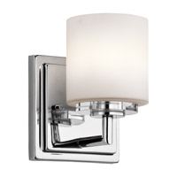 Kichler 45500CH O Hara 1 Light 5 inch Chrome Wall Bracket Wall Light