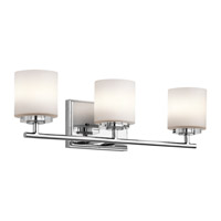 Kichler 45502CH O Hara 3 Light 22 inch Chrome Wall Mt Bath 3 Arm Wall Light