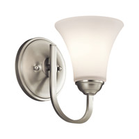 Keiran 1 Light 6 inch Brushed Nickel Wall Sconce Wall Light in Standard
