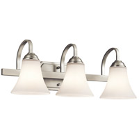 Keiran 3 Light 22 inch Brushed Nickel Bath Bracket Wall Light