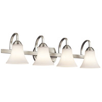 Kichler 45514NI Keiran 4 Light 30 inch Brushed Nickel Bath Bracket Wall Light