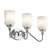 Kichler 45552CH Lilah 3 Light 20 inch Chrome Bath Vanity Wall Light