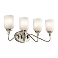 Lilah 4 Light 28 inch Antique Pewter Bath Vanity Wall Light