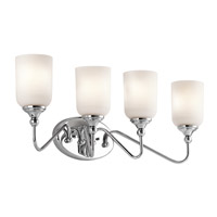 Kichler 45553CH Lilah 4 Light 28 inch Chrome Bath Vanity Wall Light