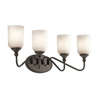 Kichler 45553OZ Lilah 4 Light 28 inch Olde Bronze Bath Vanity Wall Light