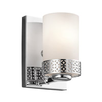 Kichler 45558CH Contessa 1 Light 5 inch Chrome Wall Bracket Wall Light