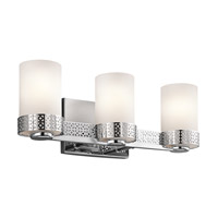 Kichler 45560CH Contessa 3 Light 19 inch Chrome Bath Bracket Wall Light