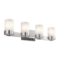 Kichler 45561CH Contessa 4 Light 26 inch Chrome Bath Bracket Wall Light