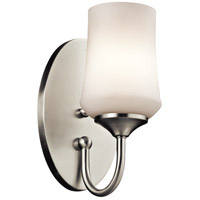 Kichler Aubrey 1 Light Wall Bracket in Brushed Nickel 45568NI