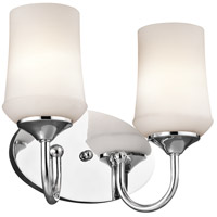 Kichler 45569CH Aubrey 2 Light 13 inch Chrome Bath Vanity Wall Light
