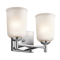 Kichler 45573CH Shailene 2 Light 13 inch Chrome Bath Vanity Wall Light