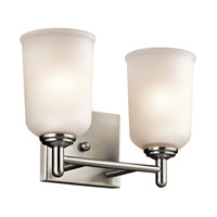 Shailene 2 Light 13 inch Brushed Nickel Bath Vanity Wall Light