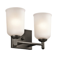 Kichler 45573OZ Shailene 2 Light 13 inch Olde Bronze Bath Vanity Wall Light