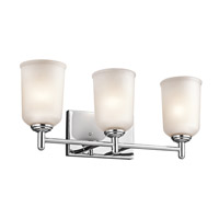 Kichler 45574CH Shailene 3 Light 21 inch Chrome Bath Vanity Wall Light