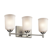 Kichler Shailene 3 Light Bath Vanity in Brushed Nickel 45574NI