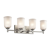 Kichler Shailene 4 Light Bath Vanity in Brushed Nickel 45575NI