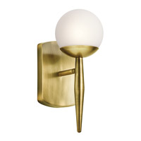 Kichler 45580NBR Jasper 1 Light 5 inch Natural Brass Wall Sconce Wall Light