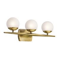 Jasper 3 Light 25 inch Natural Brass Bath Light Wall Light