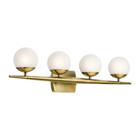 Jasper 4 Light 32 inch Natural Brass Bath Light Wall Light