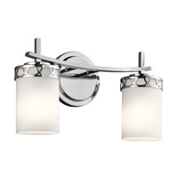 Kichler 45585CH Marlowe 2 Light 16 inch Chrome Vanity Light Wall Light in Standard