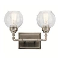 Kichler 45591AP Niles 2 Light 15 inch Antique Pewter Vanity Light Wall Light