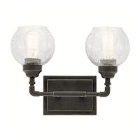 Kichler 45591OZ Niles 2 Light 15 inch Olde Bronze Vanity Light Wall Light