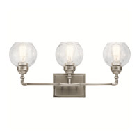 Niles 3 Light 24 inch Antique Pewter Vanity Light Wall Light