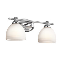 Kichler 45612CH Marana 2 Light 16 inch Chrome Bath Bracket Wall Light