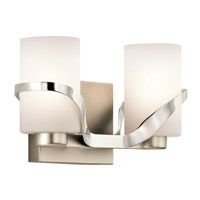Kichler 45628PN Stelata 2 Light 13 inch Polished Nickel Bath Light Wall Light