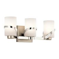 Kichler 45629PN Stelata 3 Light 21 inch Polished Nickel Bath Light Wall Light