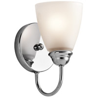 Kichler 45637CH Jolie 1 Light 5 inch Chrome Wall Bracket Wall Light in Standard