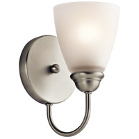 Kichler Jolie 1 Light Wall Sconce in Brushed Nickel 45637NI