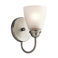 Jolie LED 5 inch Brushed Nickel Wall Sconce Wall Light