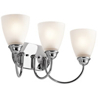 Jolie 3 Light 20 inch Chrome Bath Vanity Wall Light