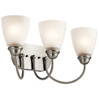 Kichler Jolie 3 Light Bath Vanity in Brushed Nickel 45639NI
