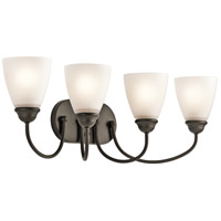 Kichler 45640OZ Jolie 4 Light 28 inch Olde Bronze Vanity Light Wall Light in Incandescent thumb