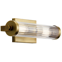 Kichler 45648NBR Azores 2 Light 16 inch Natural Brass Wall Sconce Wall Light