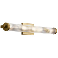 Kichler 45650NBR Azores 5 Light 32 inch Natural Brass Linear Bath Wall Light Large