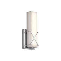 Kichler 45656CHLED Trinsic 12 inch Chrome Wall Sconce Wall Light
