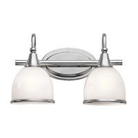Kichler 45672CH Rory 2 Light 15 inch Chrome Vanity Light Wall Light in Standard