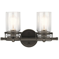 Kichler 45688OZ Brinley 2 Light 16 inch Olde Bronze Vanity Light Wall Light, 2 Arm