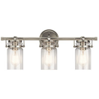Kichler 45689NI Brinley 3 Light 24 inch Brushed Nickel Vanity Light Wall Light, 3 Arm