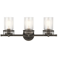 Kichler 45689OZ Brinley 3 Light 24 inch Olde Bronze Vanity Light Wall Light, 3 Arm