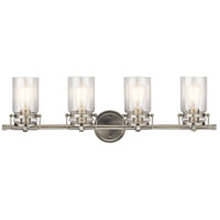 Kichler 45690NI Brinley 4 Light 32 inch Brushed Nickel Vanity Light Wall Light, 4 Arm